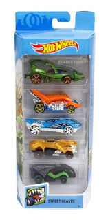 Hot Wheels X5 Unidades Street Beasts Orig Mattel 1:64 Combo