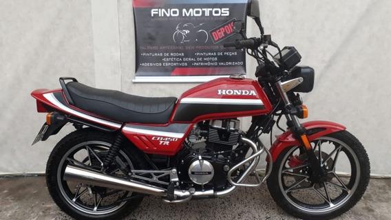 Honda Cb450 Tr Vermelha 1986