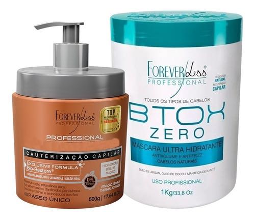 Forever Liss Cauterização + Botox Zero 1kg Anti Frizz