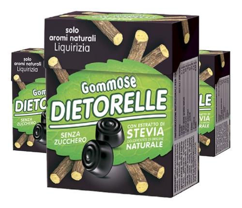 Imagem 1 de 2 de 3x Bala De Goma Vegana Dietorelle Alcacuz 40g