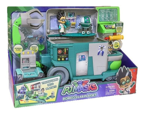 Laboratório Romeo Playset Dtc Pj Masks Qg Foguete Azul/verde