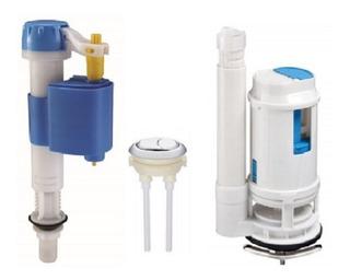 Repuesto Válvula De Doble Descarga Inodoro + Boton Superior