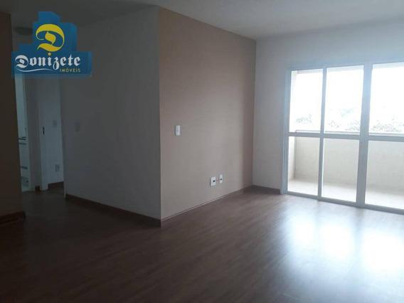 Apartamento Com 2 Dormitórios Para Alugar, 75 M² Por R$ 1.500/mês - Jardim Santo Antônio - Santo André/sp - Ap8173