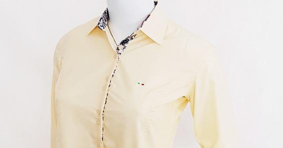 Kit 5 Camisa Feminina Slim Fit Em Algodão