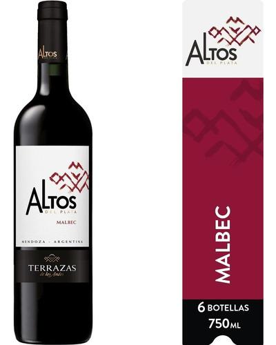 Imagen 1 de 8 de Vino Altos Del Plata Malbec Caja 6u X 750ml