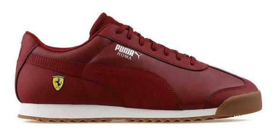 Tenis Puma Roma Ferrari Sneakers Vino Original Caidad