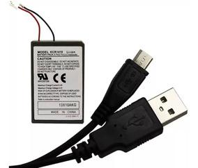 Bateria Dualshock Controle Ps4 Play 4 Cabo Carregador Wire