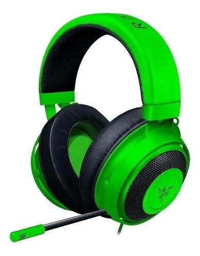 Audífonos gamer Razer Kraken Tournament Edition green