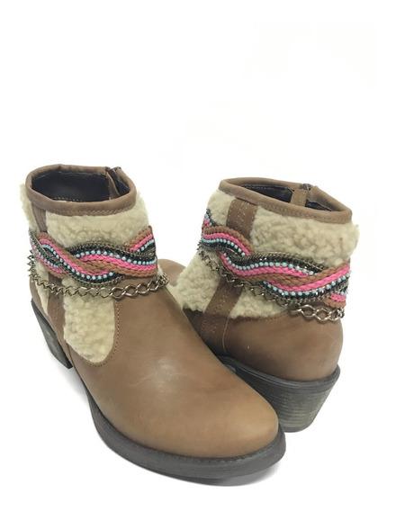 Bota Country Feminina Vimar Marrom Cano Curto Com Lã E Brilho Couro Legítimo - Super Confortável Qualidade Incomparável!