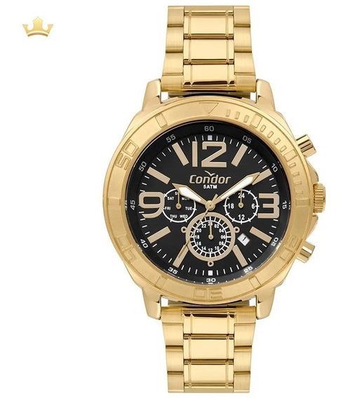 Relógio Cronógrafo Condor Masculino Dourado Cojp25act4p