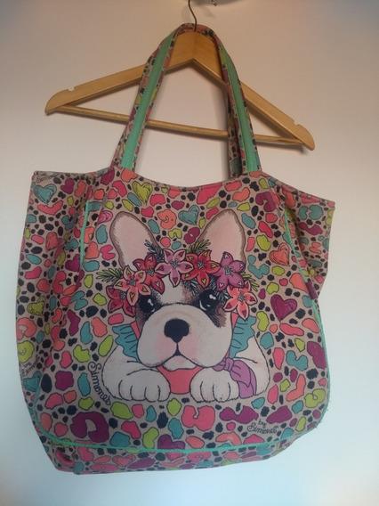 Bolso Cartera Big Bag Simones Animal Print De Colores