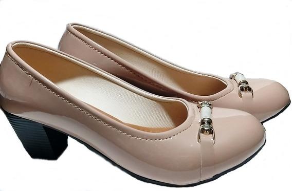 Sapato Scarpan Di Caterina Salto Médio