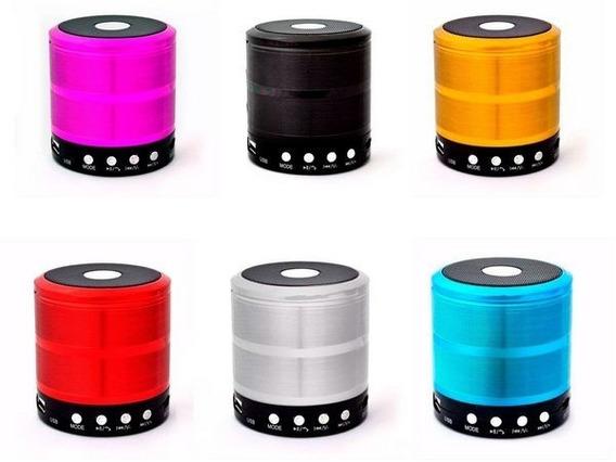 7 Mini Speaker Ws-887 Caixa Som Portátil Mp3 Sd Bt Atacado