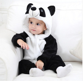 Macacão Pijama Bebê Panda Infantil Fantasia
