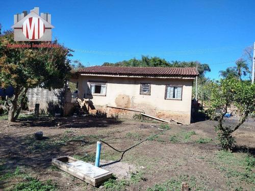 Imagem 1 de 24 de Chácara Simples Em Ótimo Bairro Com 02 Dormitórios, Terreno Plano, Arborizado, Pomar, À Venda, 1500 M² Por R$ 215.000 - Rural - Socorro/sp - Ch0707