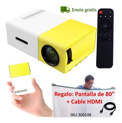 Mini Video Beam Proyector Yg300 Led Usb Sd +telon Cable W01