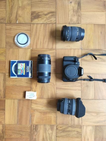 Camera Fotográfica Canon 550d + Lentes