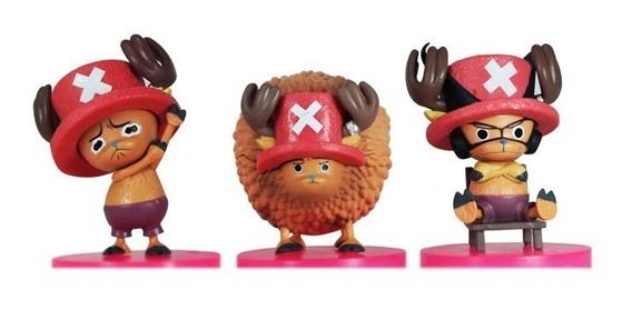 One Piece Gashapon Figuras Chopper 3 Piezas