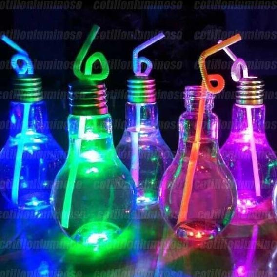 10 Vasos Luminosos Lampara Drink Luz Led Cotillon Fiesta