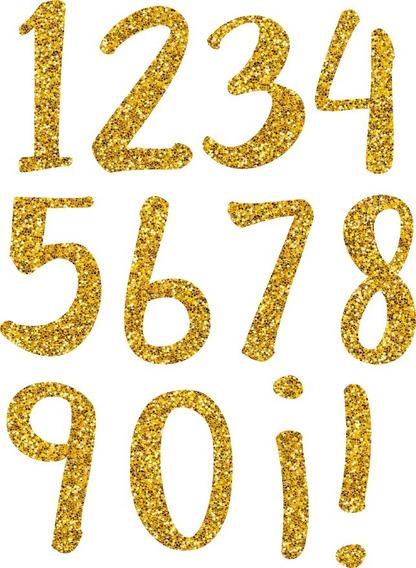 Letras Imprimibles Dorado Glitter