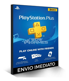 Cartão Psn - Playstation Plus 3 Meses Americano Us Ps3 Ps4