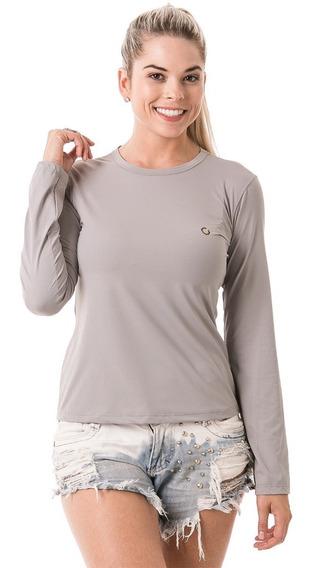 Camiseta Feminina Repelente De Insetos Extreme Uv Com Fpu50+