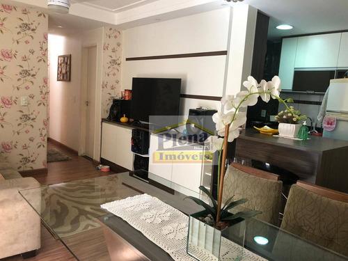 Imagem 1 de 29 de Apartamento Com 3 Dormitórios À Venda, 70 M² Por R$ 320.000,00 - Vila São Francisco - Hortolândia/sp - Ap1324