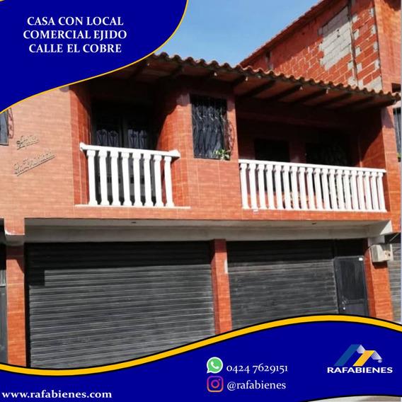 Casa En Venta, Inclye Local Comercial Ejido, Mérida
