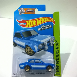 70 Ford Escort Rs Fast & Furious Rápido Y Furioso Hot Wheels