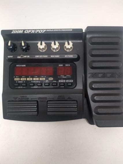 Pedaleira De Distorsões Para Guitarra Zoom Gfx 707 C/ Fonte
