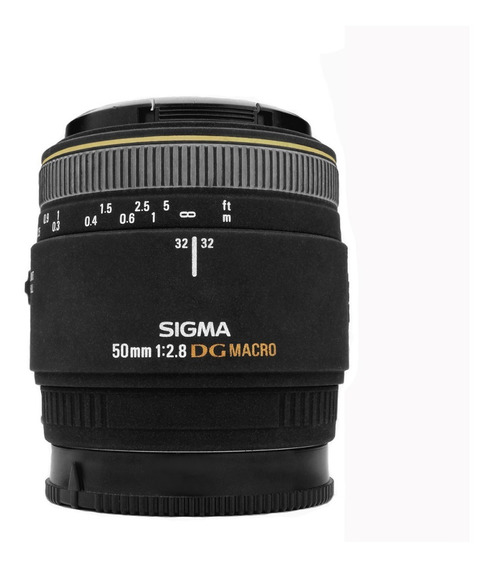 Lente Macro Sigma 50mm F/2.8 Sony A Mount + Adapt. Sony E