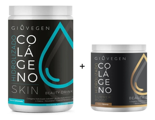 Imagen 1 de 8 de Giovegen Skin + Summer Boost - Colágeno Hidrolizado Bebible