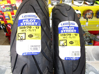 Llantas Michelin 140/70-17 + 110/70-17 Pilot Str Promocion!!