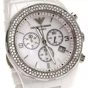 Relógio Emporio Armani Ar1456 Cerâmica Branca Feminino