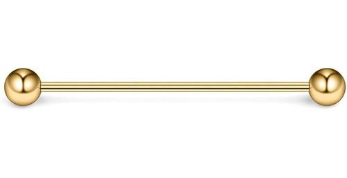 Imagen 1 de 2 de Ruifan - Piercing Industrial Para Cartílago (calibre 16, 1.3