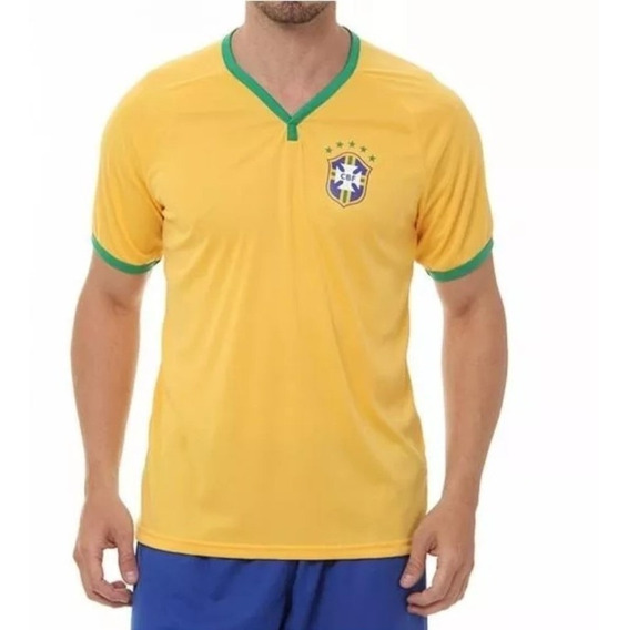 Camisa Brasil Cbf Amarela Torcedor