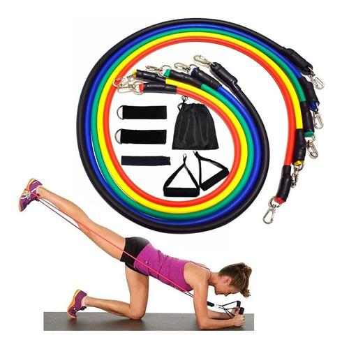 Imagem 1 de 6 de Kit Tubing Elástico 11 Itens Treinamento Funcional #####