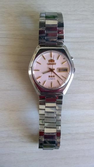 Lindo Relógio Orient Modelo Raro Salmão Automático Anos 70