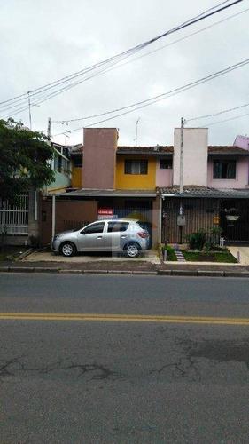 Sobrado Com 3 Dormitórios À Venda, 73 M² Por R$ 240.000,00 - Boqueirão - Curitiba/pr - So0313