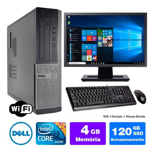 Imagem 1 de 5 de Desktop Usado Dell Optiplex Int I3 2g 4gb Ssd120 Mon17w