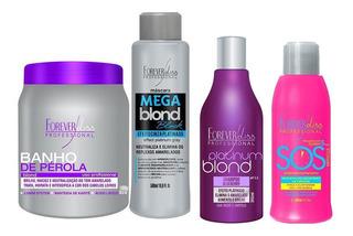 Banho Pérola, Mega Blond Black, Shampoo Platinum E Sos