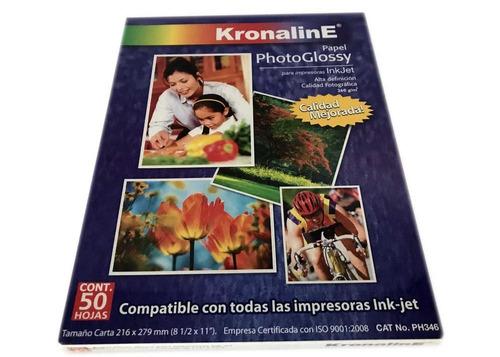 Imagen 1 de 4 de Papel Fotografico Kronaline Ph346 Brillante Carta 50h 260g