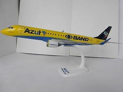 Miniatura Avião - Azul (canarinho Band) Erj-195 Herpa 1/100