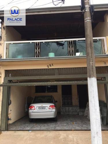Casa Com 2 Dormitórios À Venda, 130 M² Por R$ 250.000,00 - Jardim Castor - Piracicaba/sp - Ca0786