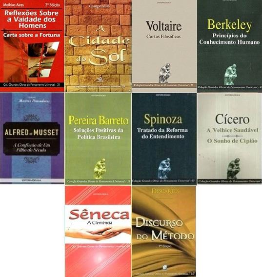 Kit Com 10 Livros De Filosofia E Sociologia Em Promoção