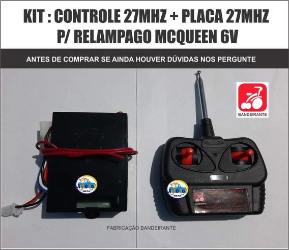 Relampago Mcqueen 8437 Bandeirante - Controle + Placa 27mhz