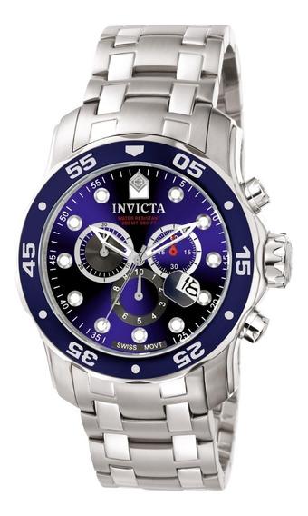 Relogio Invicta 0070 Pro Diver Original Prata Pronta Entrega