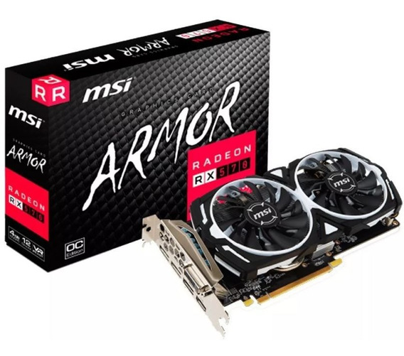Placa Video Amd Ati Radeon Msi Rx 570 4gb Armor Oc Juegos 2