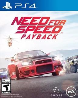 Need For Speed Payback Ps4 Digital Juega Con Tu Usuario