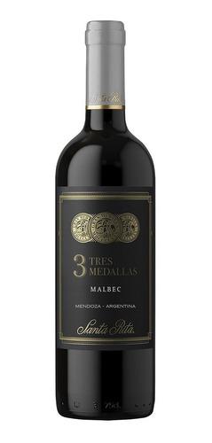 Vinho Argentino Santa Rita 3 Medallas Malbec 750ml